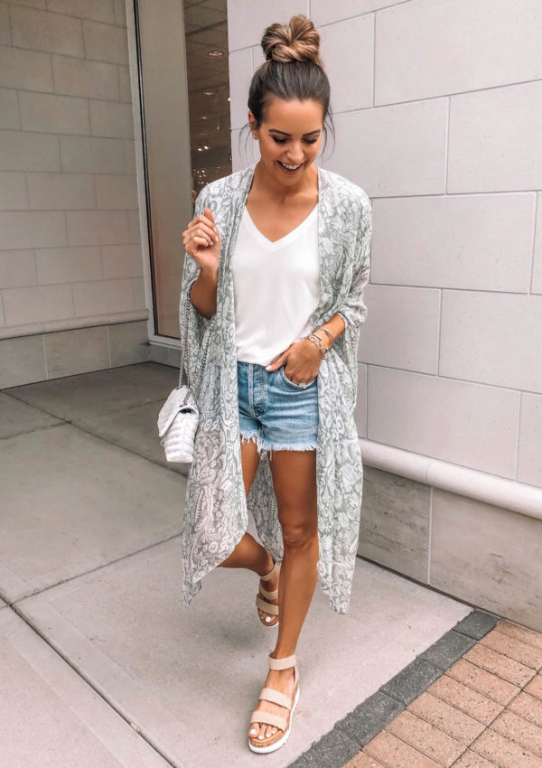 amazon try on, haul, june, 2019, Moss Rose Women's Beach Cover up Swimsuit Kimono Cardigan with Bohemian Floral Print