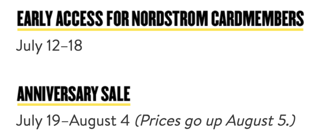 nsale 2019, Nordstrom anniversary sale, when is
