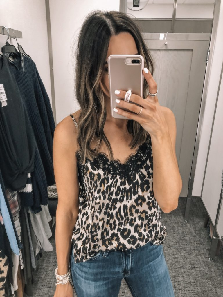 nsale 2019 try on, Nordstrom anniversary sale, BP. lace trim cami leopard