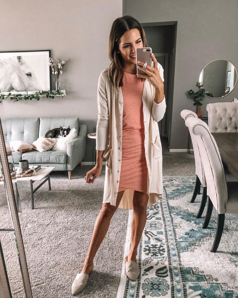 Amazon fashion try on haul, summer, fall, bump friendly, cardigan, wedding guest dress