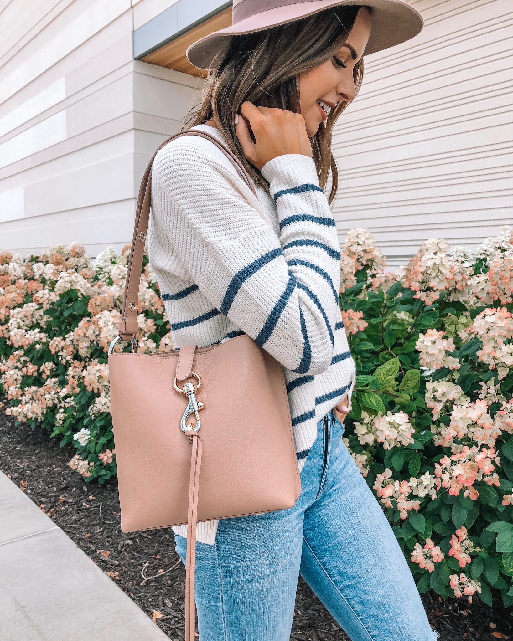 my go-to fall outfit, fall fashion, made well, Nordstrom, Rebecca minkoff small Megan crossbody bag, wool felt hat, Minneapolis fashion blogger