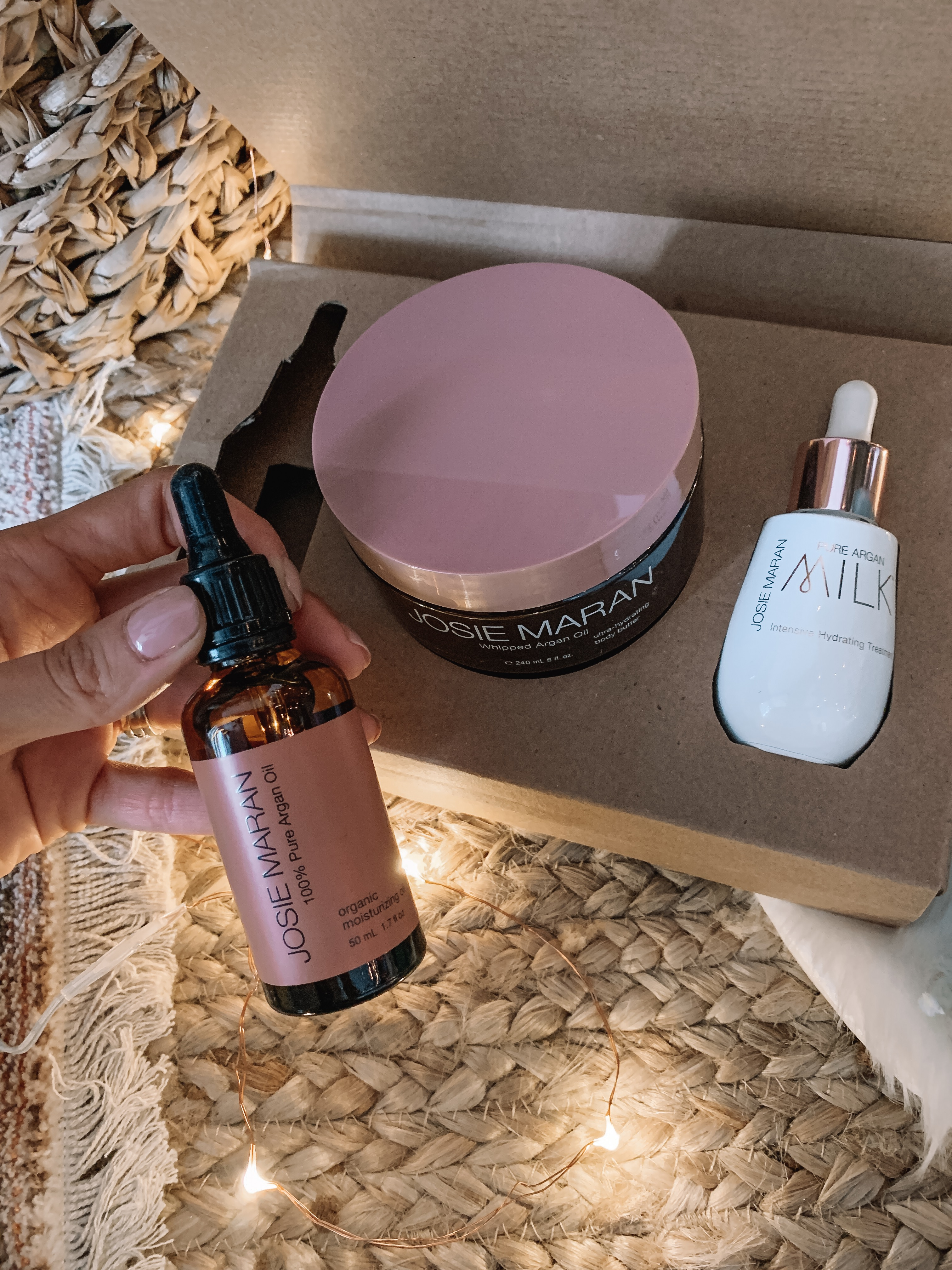 Josie maran customer choice collection holiday set, 100% argan oil, argan milk and whipped argan oil body butter, best of qvc gifts for her
