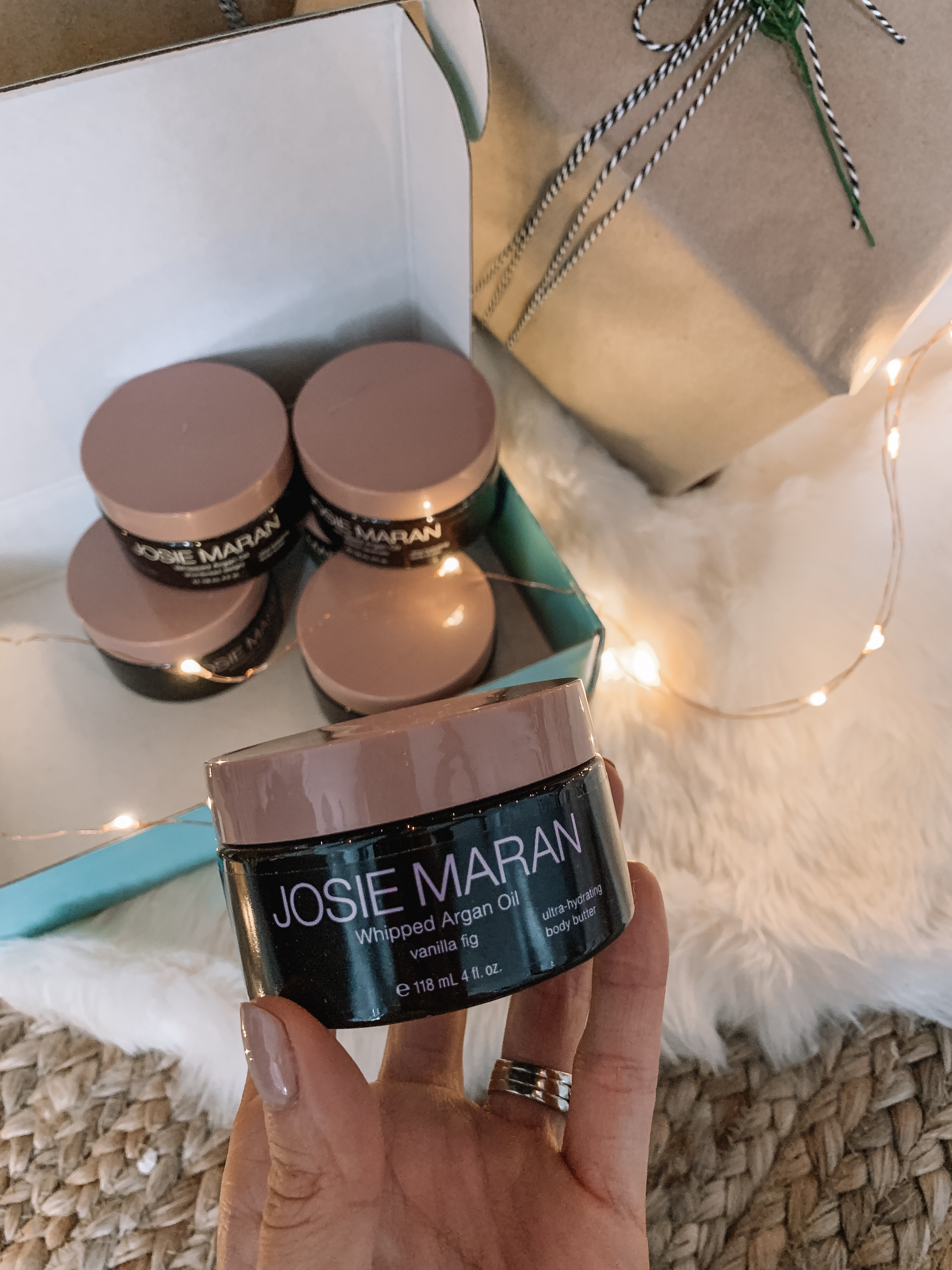 Josie Maran whipped argan oil body butter gift set 6 piece, gifts for her, best of QVC gift guide, stocking stuffers, sale