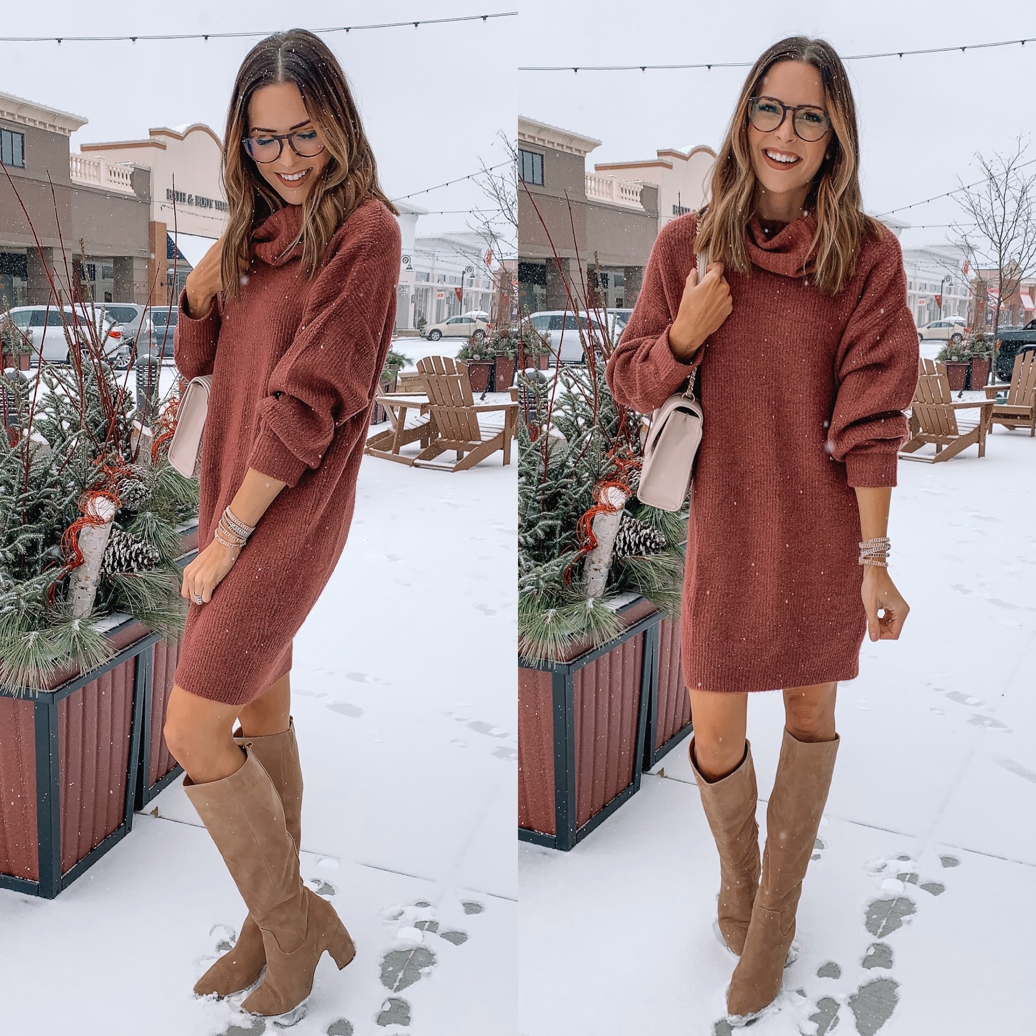 express Black Friday cyber Monday sale 2019. sweater dress, affordable fashion, winter fashion, holiday outfit, Minneapolis blogger