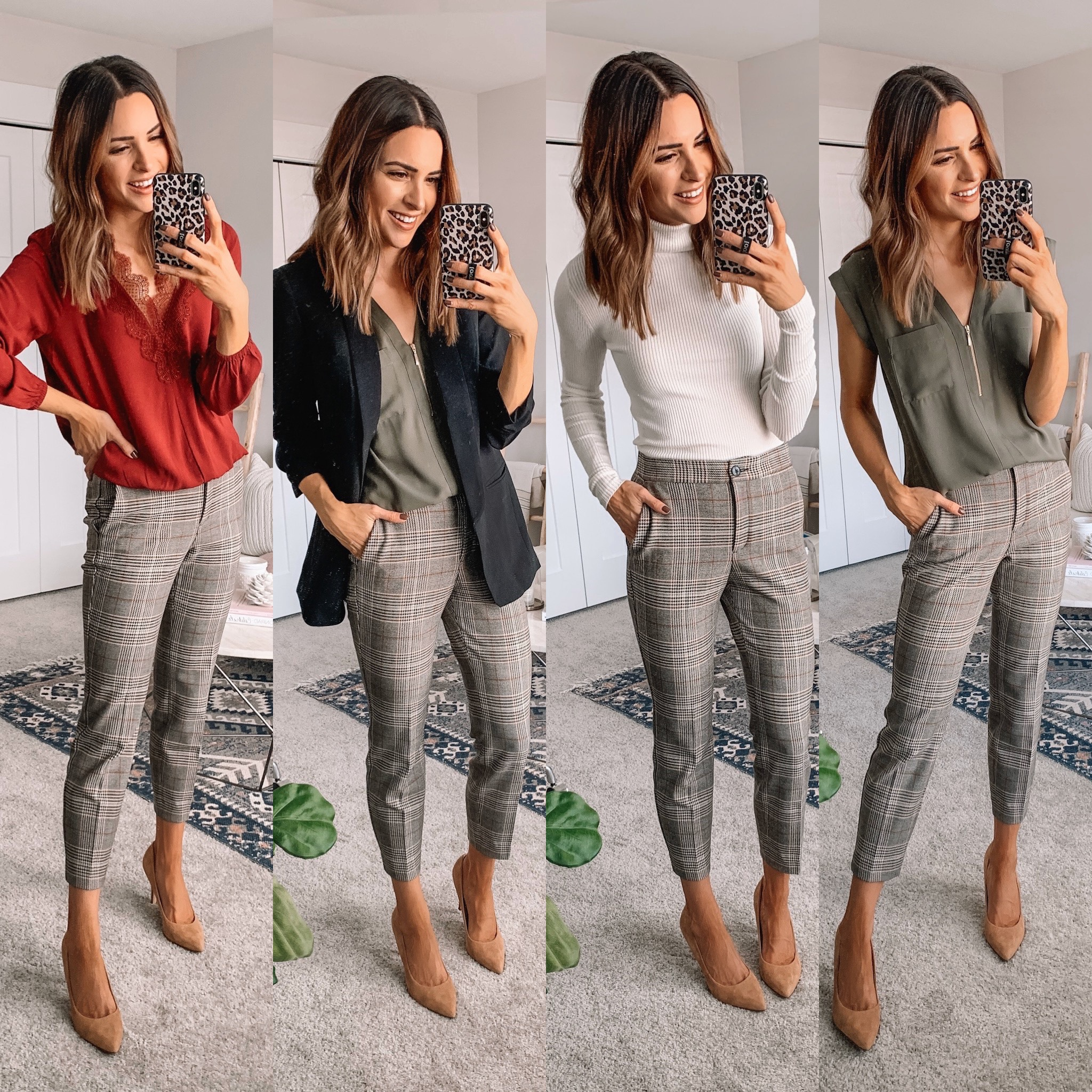 express Black Friday cyber Monday sale 2019. work wear, affordable fashion, winter fashion, plaid pants women, Minneapolis blogger, how to wear