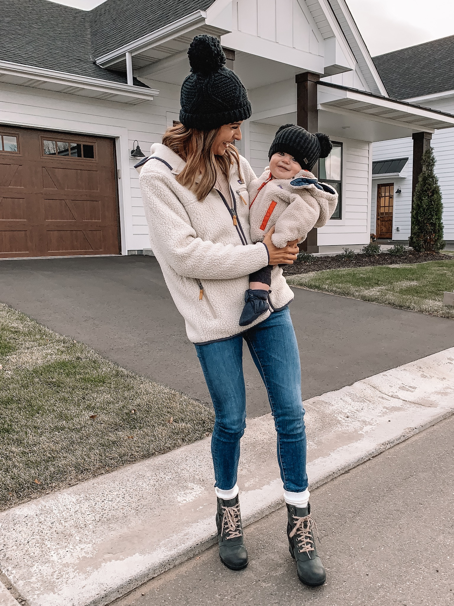 pre-winter favorites, Patagonia retro pile fleece hooded jacket, infant boys reversible winter jacket, backcountry, Sorel Lexie boots