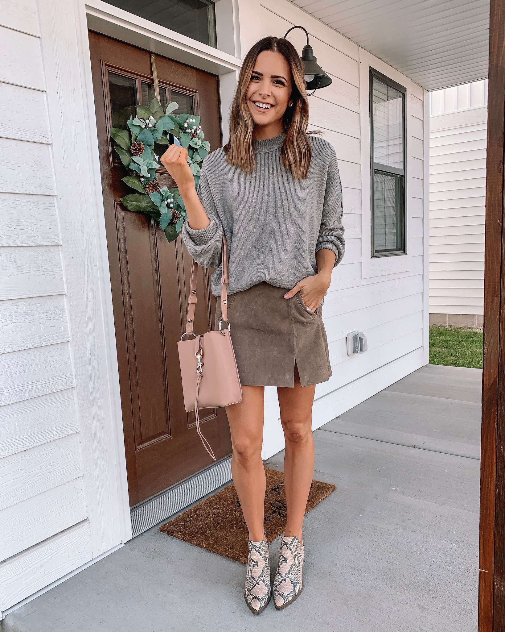 thanksgiving outfit ideas, cute, comfy, dressy, Nordstrom, free people easy street tunic