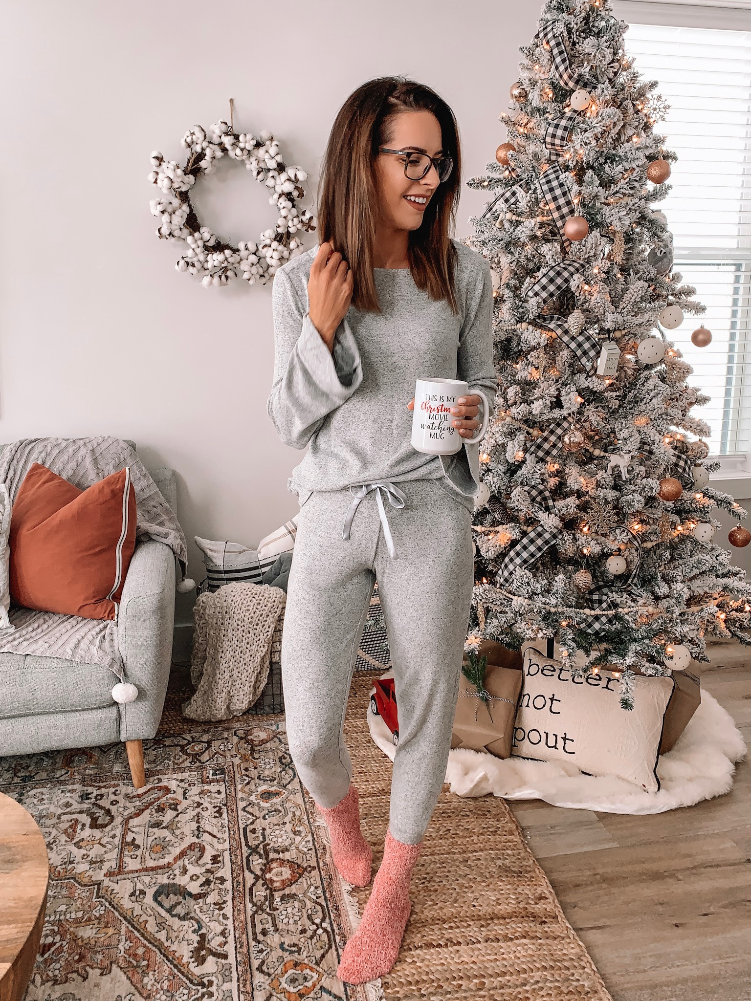 jockey loungewear, hot cocoa bell sleeve top and joggers, my favorite pick-me-ups, afternoon slump