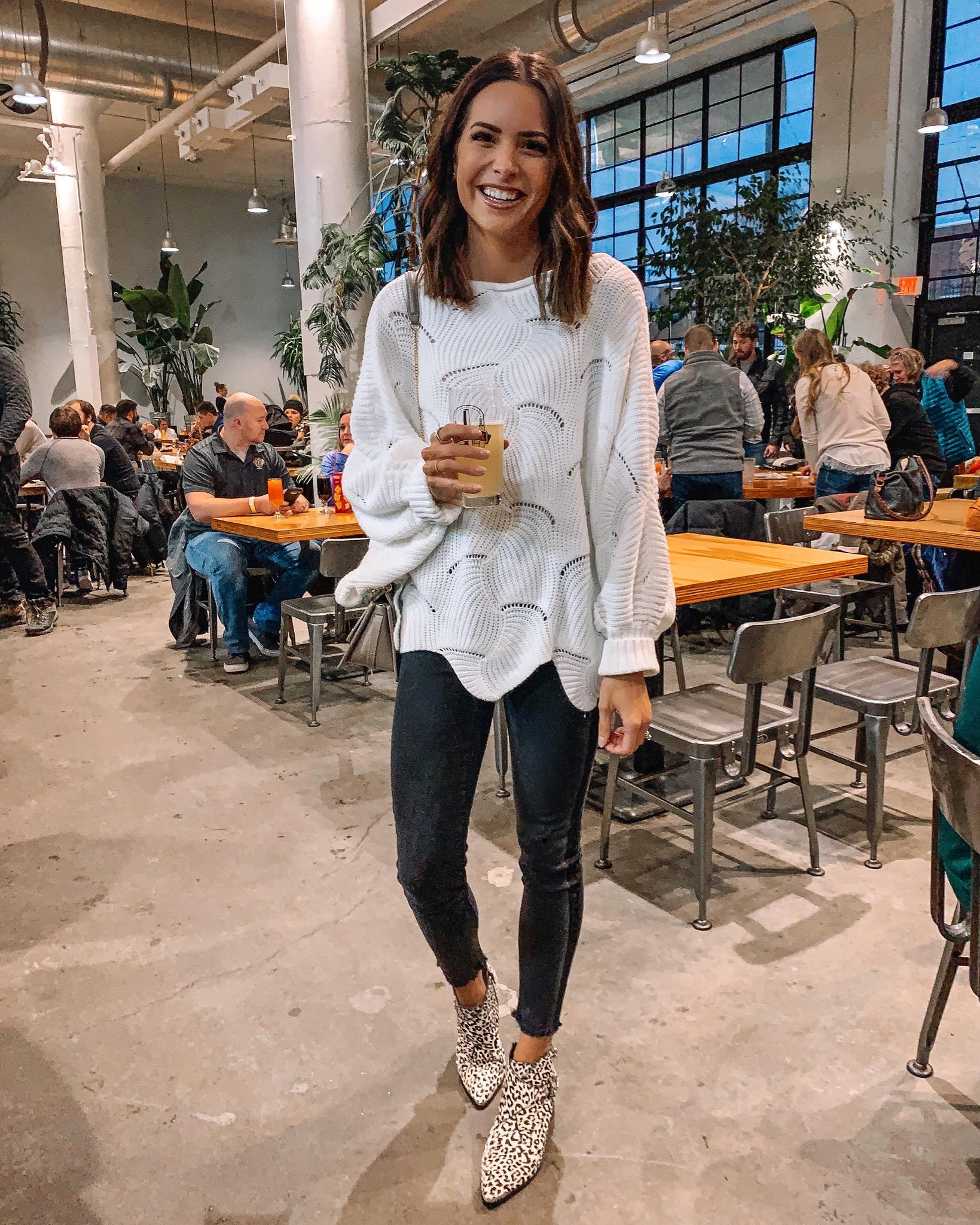 amazon relipop women's batwing pullover sweater, weekend sales January, Minneapolis blogger