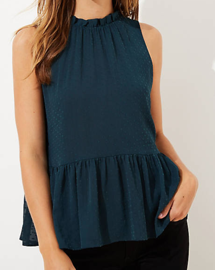 loft, peplum top, best sellers of January 2020