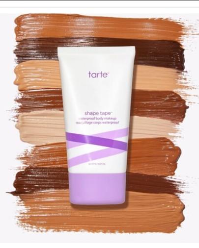 tarte, shape tape, body makeup