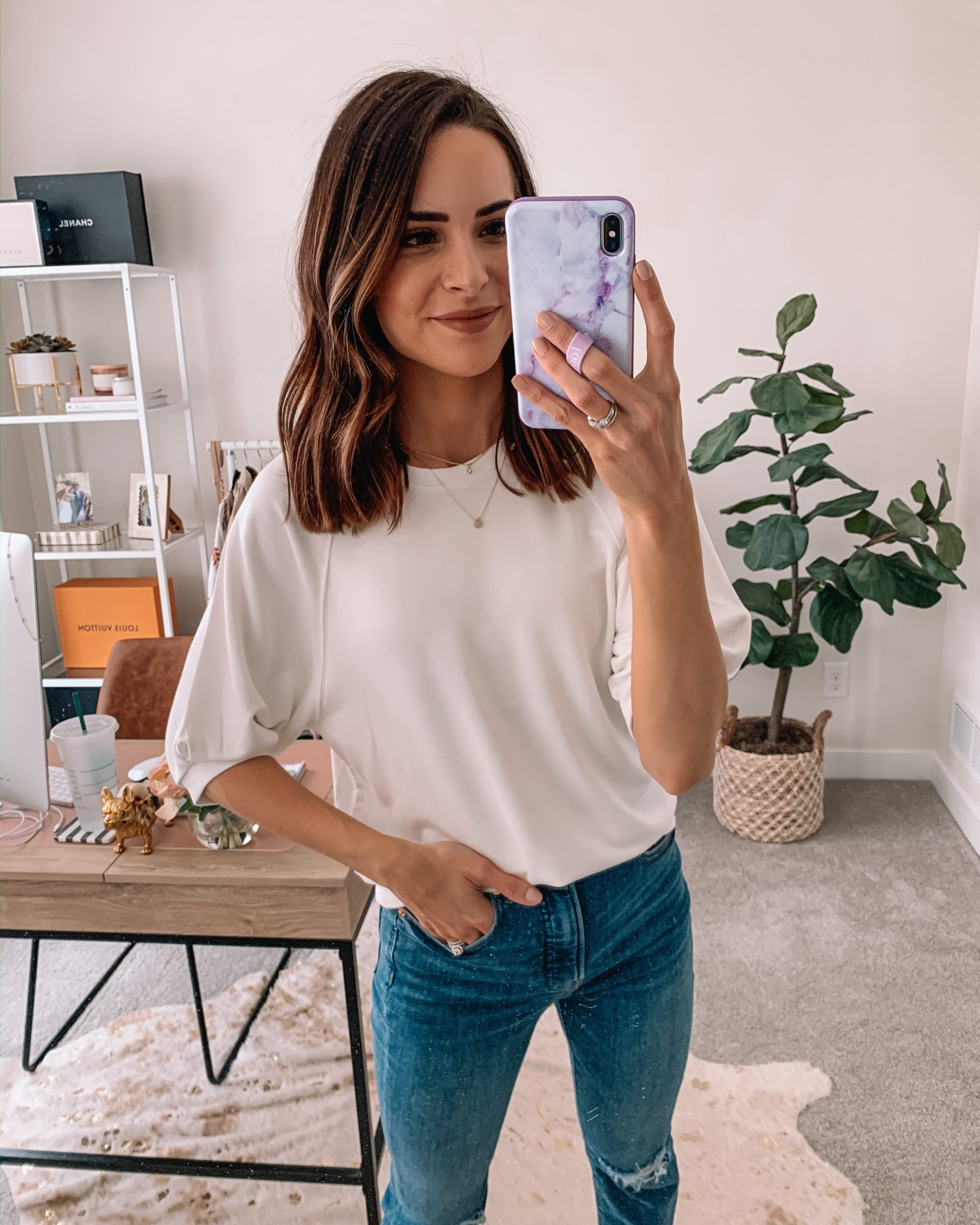 cute wfh looks, work from home outfit, comfortable, express