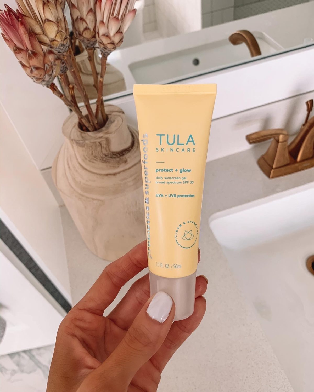 tula protect + glow sunscreen review, daily facial sunscreen