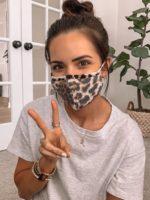 leopard face mask, cloth face mask, cute face masks
