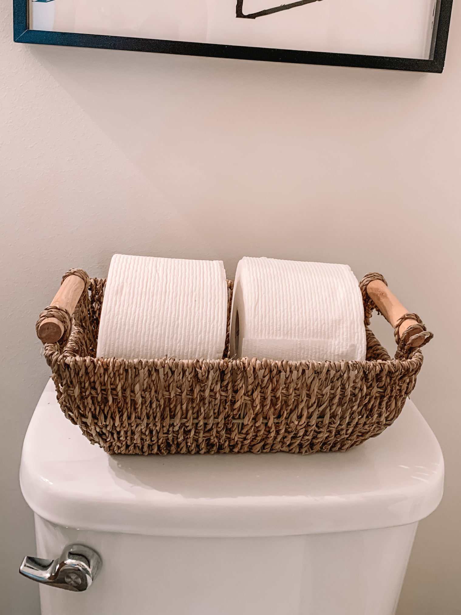 amazon home, amazon home decor, toilet paper holder, seagrass basket