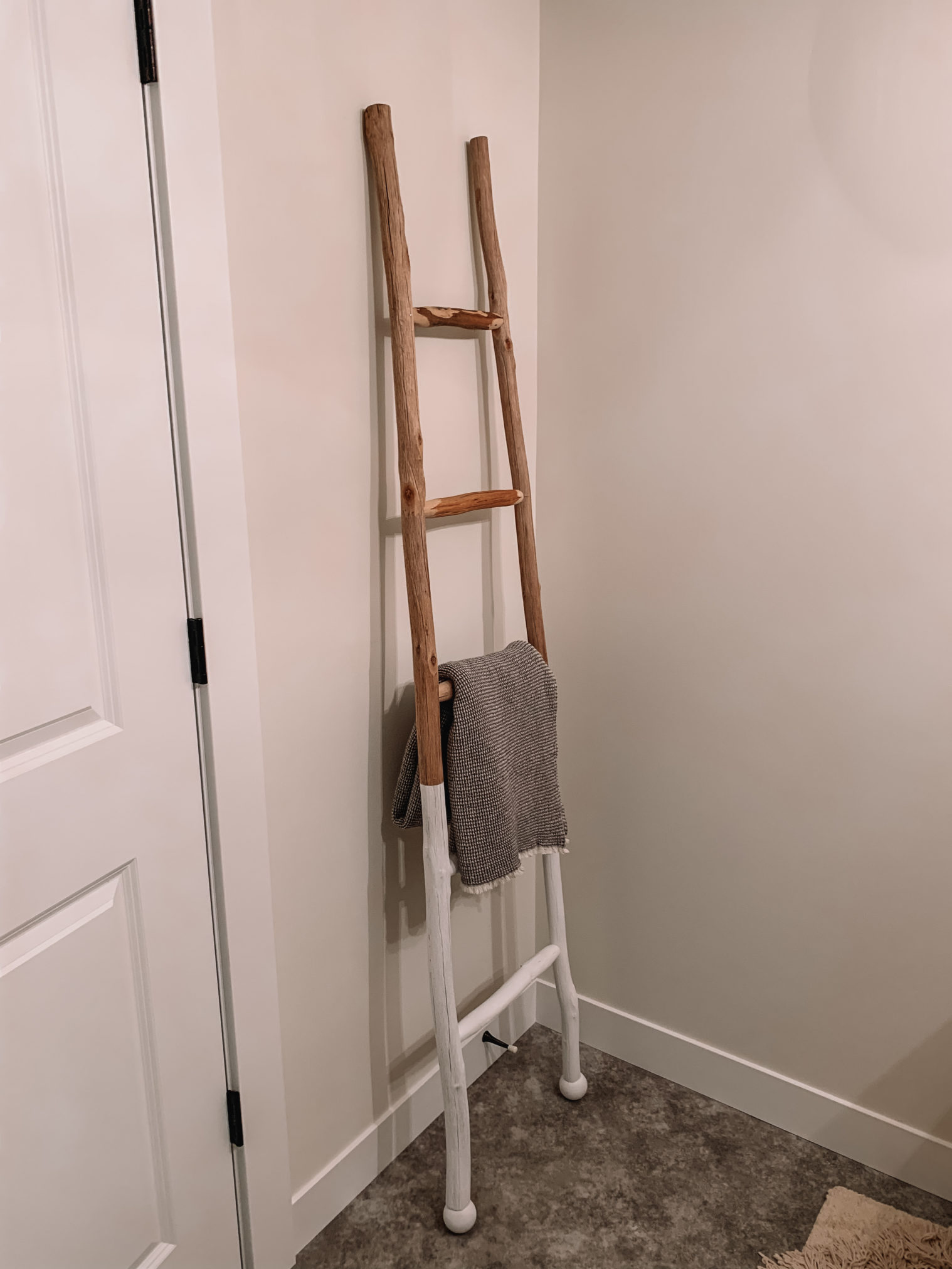 amazon home, amazon home decor, blanket ladder, affordable blanket ladder, towel holder