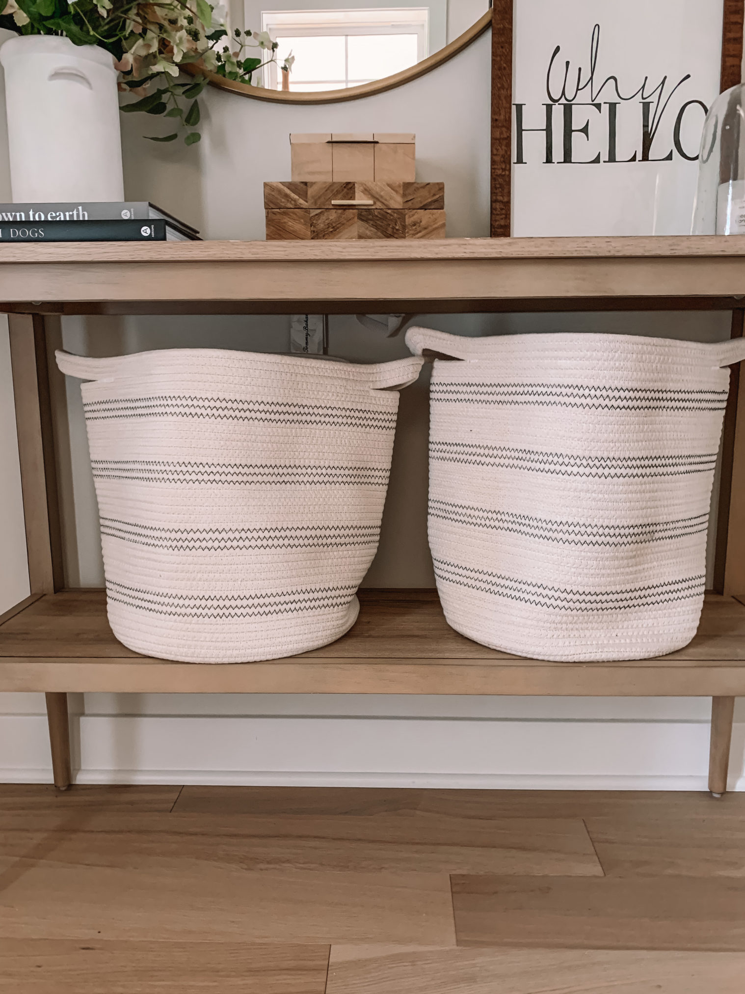 amazon finds, amazon home, home organization, woven bins, home storage, entry way organization