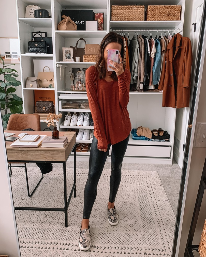 old navy haul 2020, fall old navy finds, long sleeve legging tee