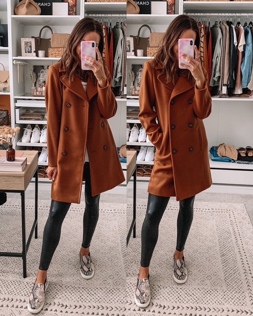old navy haul 2020, fall old navy finds, camel peacoat
