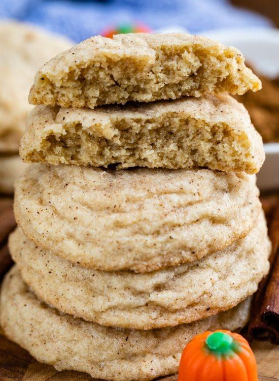 pumpkin spice snickerdoodle cookie recipe