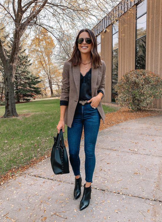 plaid blazer outfit, express blazers, womens plaid blazers