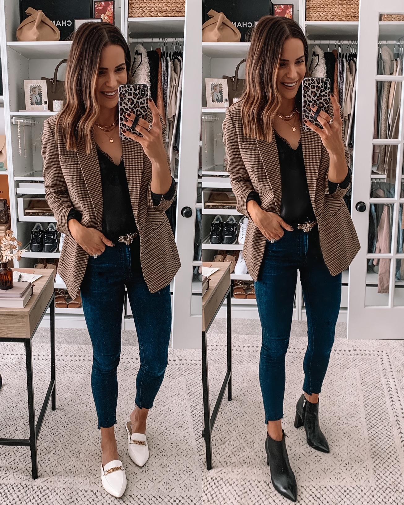 fall blazers, plaid blazer, plaid blazer outfit, express blazers, womens blazers