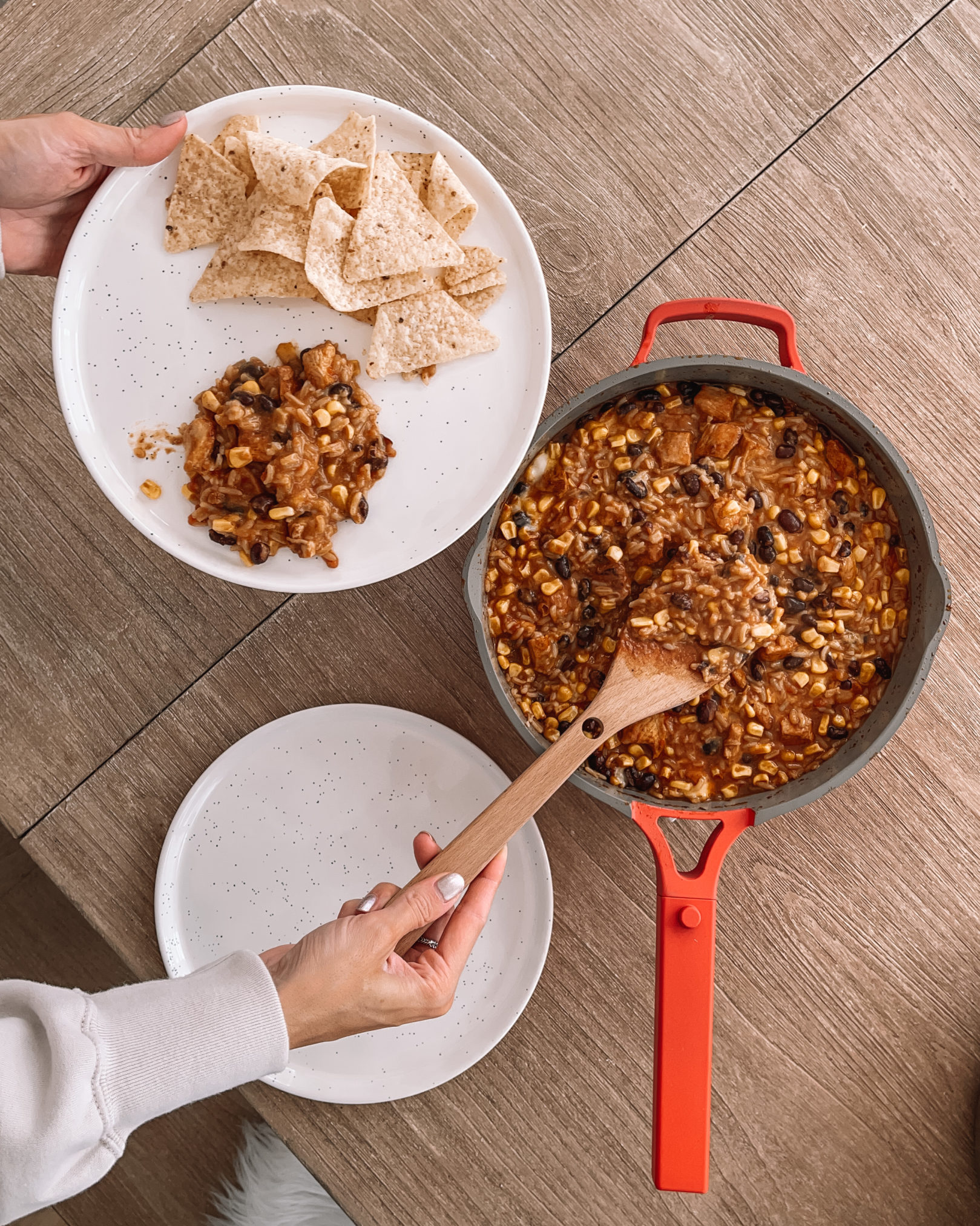 always pan review, easy one pan recipe, chicken burrito skillet