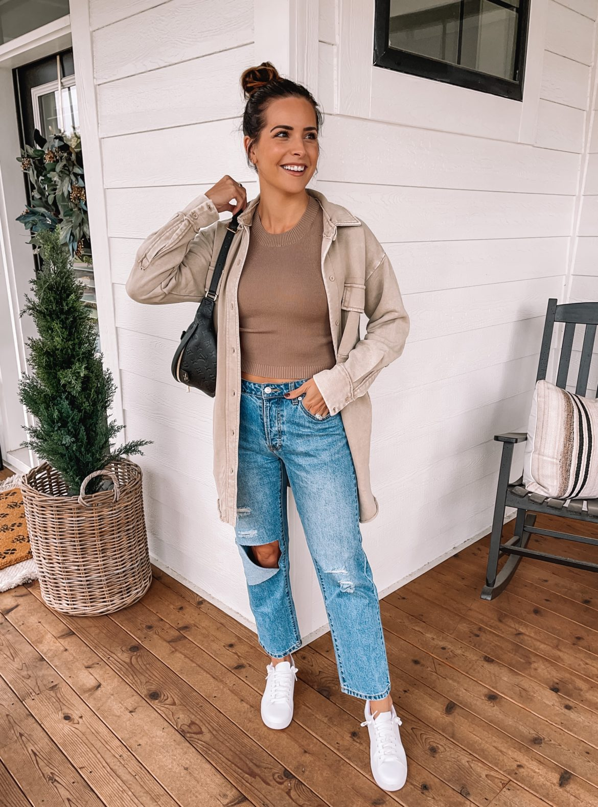 forever 21 fall outfit, shacket outfit